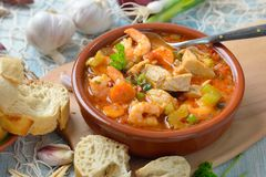 French fish soup royalty free stock photo