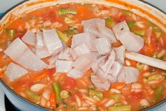 Mediterranean fish stew Royalty Free Stock Images