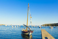Mediterranean fishing boat. The Village of cadaques, Costa Brava, Catalonia, Spain Stock Photo