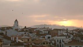 Mediterranean Fishing Village at Dawn 02 stock video