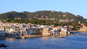 Mediterranean Fishing Village Panoramic stock video