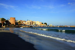 Mediterranean fishing village seascape. Sicily Royalty Free Stock Photography