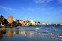 Mediterranean fishing village seascape. Sicily Royalty Free Stock Image