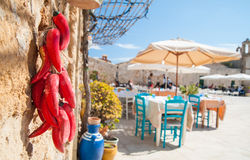Mediterranean fishing village Stock Image