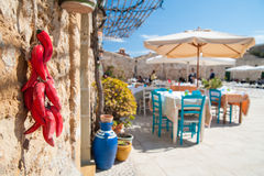 Mediterranean fishing village Stock Images