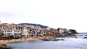 Mediterranean Fishing Village Time Lapse stock video