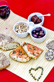 Mediterranean food appetizers stock photography