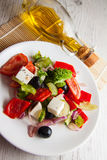 Mediterranean food:greek salad Stock Photo