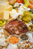 Mediterranean food ingredients Stock Photography