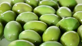 Mediterranean food, olives stock footage