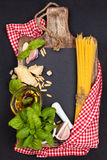 Mediterranean food. Pasta. Stock Image