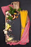 Mediterranean food. Pasta. Royalty Free Stock Photo