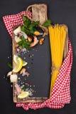 Mediterranean food. Pasta. Royalty Free Stock Photo
