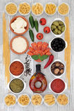 Mediterranean Food Selection Stock Images