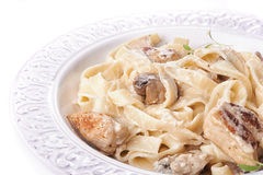 Mediterranean food. tagliatelle Royalty Free Stock Images