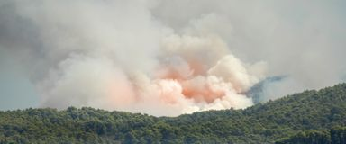 Mediterranean forest fire Royalty Free Stock Photos