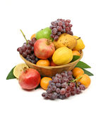 Mediterranean fruit basket Royalty Free Stock Photography