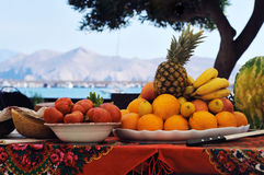 Mediterranean Fruits And Vegetables Stock Photos