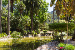 Mediterranean garden on the island of Mallorca Stock Images