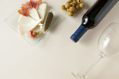 Mediterranean gastronomy and tapas composition Royalty Free Stock Photo