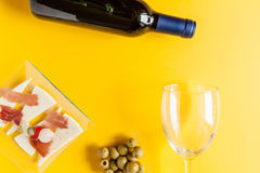 Mediterranean gastronomy and tapas composition Stock Image
