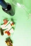 Mediterranean gastronomy and tapas composition Royalty Free Stock Photos