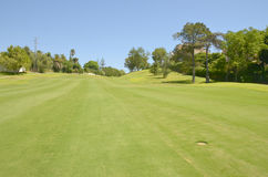 Mediterranean golf course Stock Photo