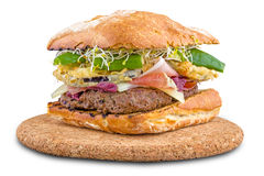 Mediterranean gourmet hamburger. Hamburger with local products canaries photographed in Tenerife Spain Royalty Free Stock Image
