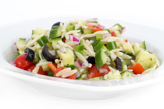 Mediterranean greek orzo pasta salad Royalty Free Stock Images