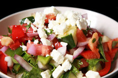 Mediterranean or Greek salad Stock Image