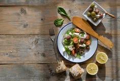 Mediterranean greek salad Stock Photography
