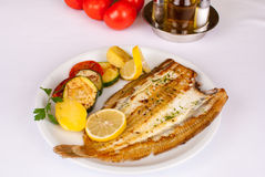 Mediterranean grilled fish Royalty Free Stock Image