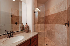 Mediterranean guest bathroom Royalty Free Stock Photos