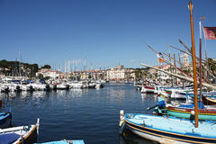 Mediterranean harbour stock photography