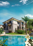 Mediterranean house. Holiday villa with swimming pool Stock Photo