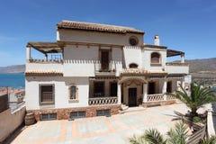 Mediterranean house stock photos