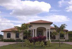 Mediterranean House 8. Luxury mediterranean style house in miami florida royalty free stock photography