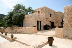 Mediterranean House. In Ibiza stock images