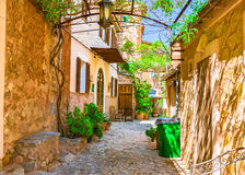Mediterranean house courtyard Stock Photography