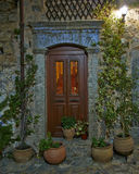 Mediterranean house entrance Stock Photo