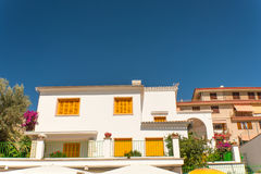 Mediterranean house facade on Mallorca Stock Photo