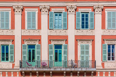 Mediterranean house facades in Nice Royalty Free Stock Images