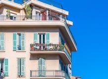 Mediterranean house facades in Nice Stock Photos