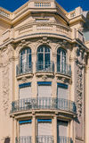 Mediterranean house facades in Nice Stock Photography