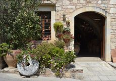 Mediterranean house in Greece. A typical mediterranean house in Crete, Greece Royalty Free Stock Photography