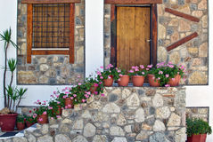 Mediterranean House Greece Royalty Free Stock Image
