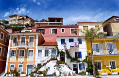 Mediterranean house in parga Stock Image