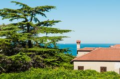 Mediterranean House and Sea Royalty Free Stock Image