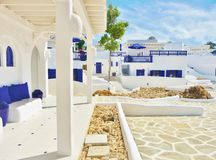 Mediterranean Houses - Blue and White Stock Photos