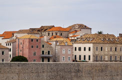 Mediterranean houses in Dubrovnik Royalty Free Stock Images